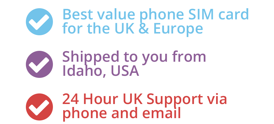 Best value data sim for the UK & Europe