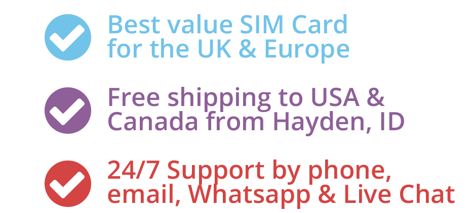 Best value phone sim car for the UK & Europe