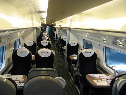 Photograph of inside of a Virgin Train