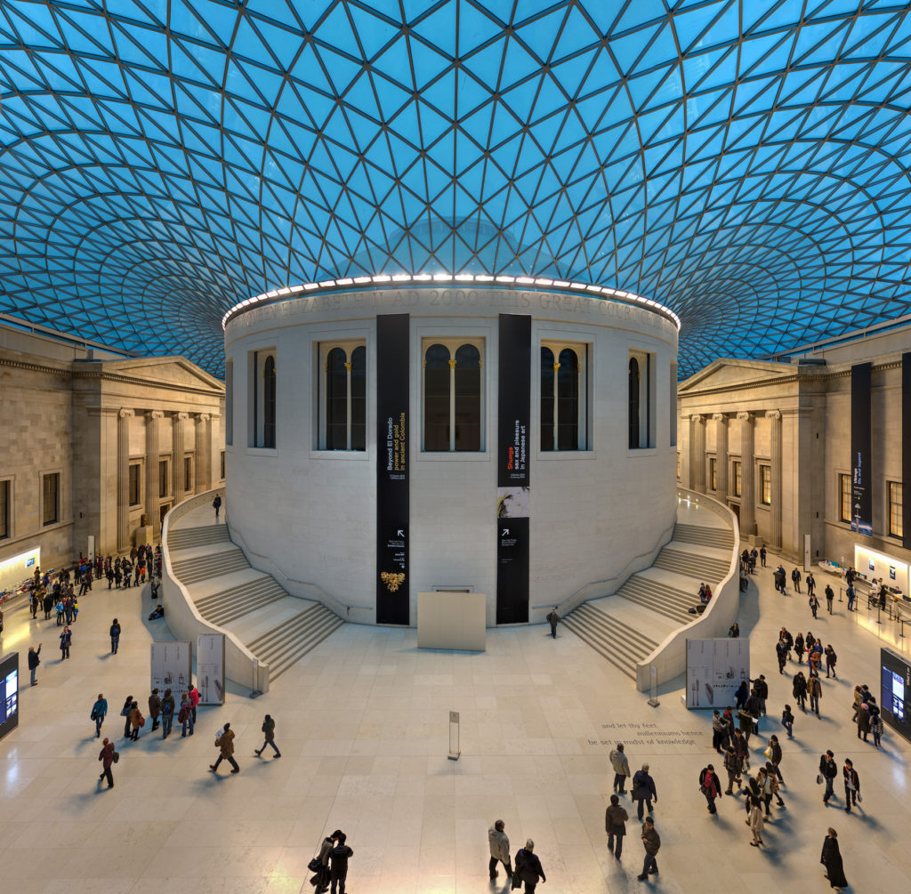 Photograph of the inside dome of the British Museum