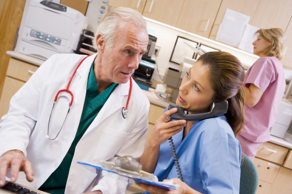 Image of a doctor and nurse